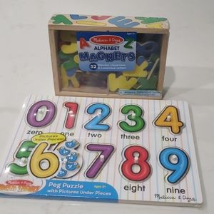 Kids wooden alphabet and numbers fresh start